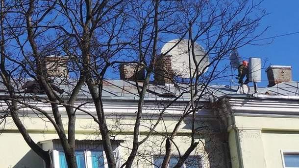 На крыше на Шелковичной