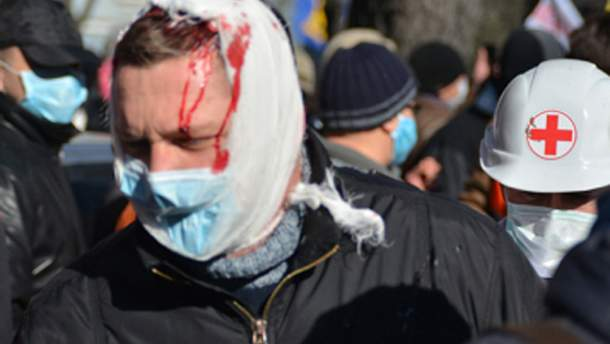 Один из пострадавших в столкновениях