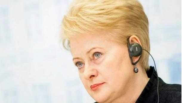 Президент Литви Даля Грібаускайте