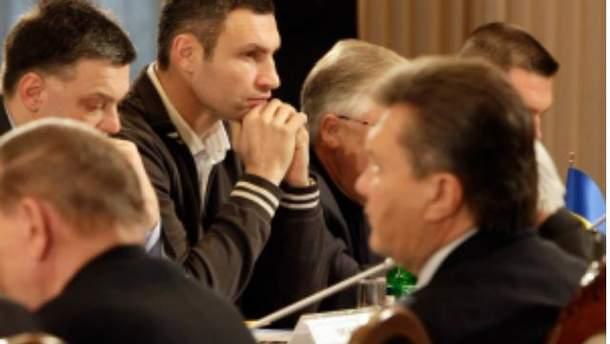 Лидеры оппозиции и Виктор Янукович