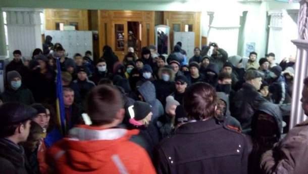Активисты в здании Полтавского горсовета