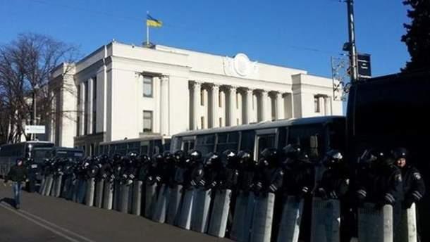 Правоохранители возле Рады