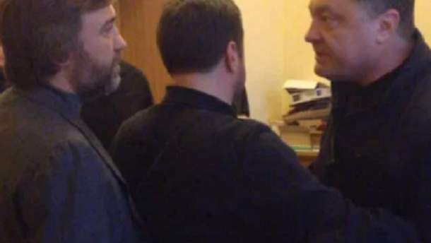 Петро Порошенко і Вадим Новинський