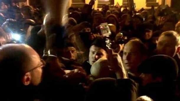 Шуфрич в толпе митингующих