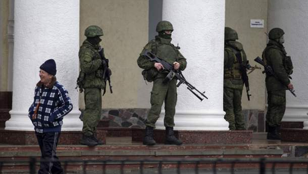 Вооруженные люди в Крыму