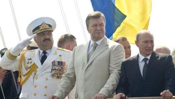Вололимир Путін та Віктор Янукович