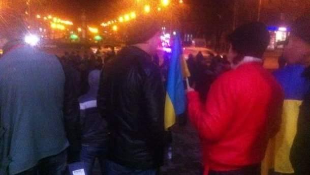 Мітингувальники в Запоріжжі