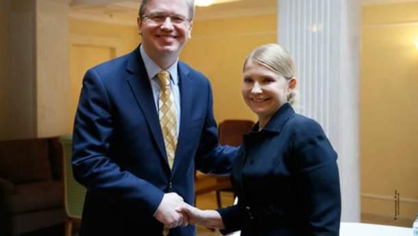 Юлия Тимошенко и Штефан Фюле
