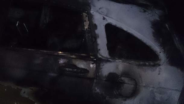Спалена машина