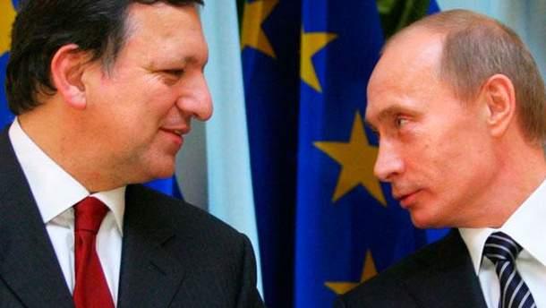 Жозе Мануэль Баррозу и Владимир Путин