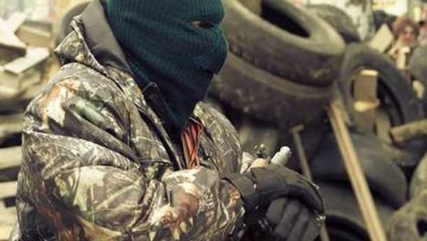 Боевик в Краматорске