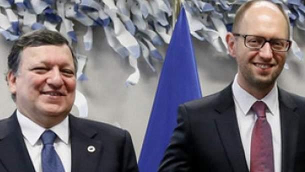 Жозе Мануэль Баррозу и Арсений Яценюк