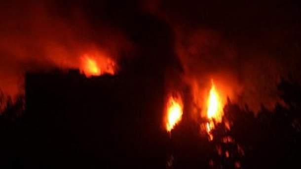 Пожар в горсовете Мариуполя