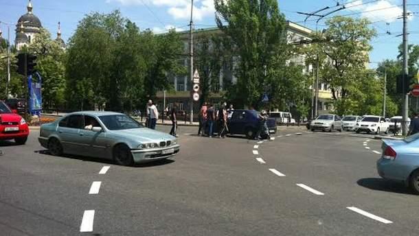 Столкновения в центре Донецка