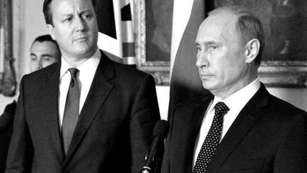 Девід Кемерон і Володимир Путін