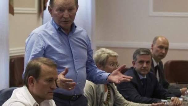 Леонид Кучма на переговорах