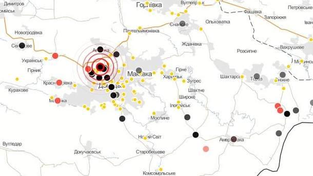 Карта боїв у зоні АТО