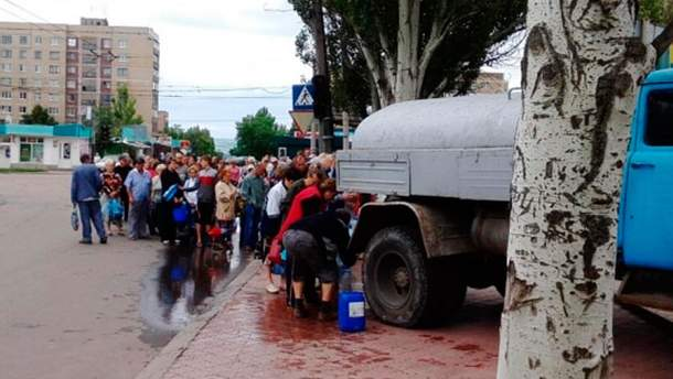 Черга по воду у Слов'янську