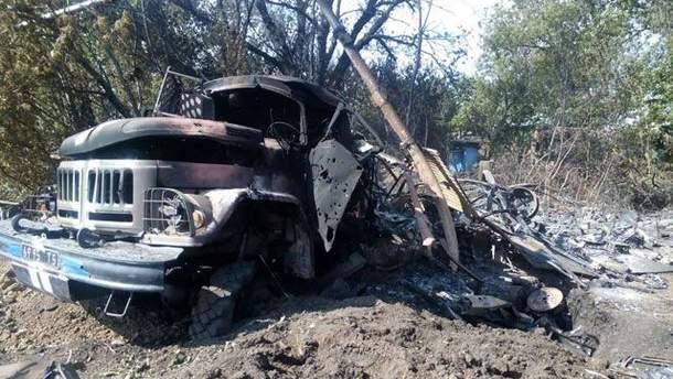 Знищена техніка українських військових