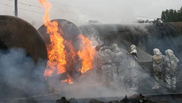 Пожар в Черкасской области