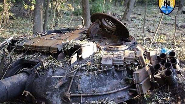 Підірваний танк терористів