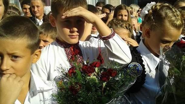 Першокласники у Слов'янську