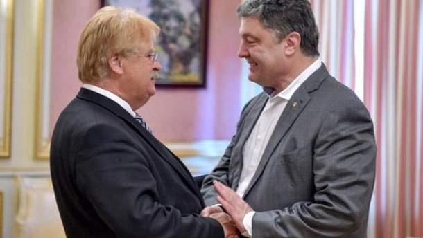 Елмар Брок і Петро Порошенко