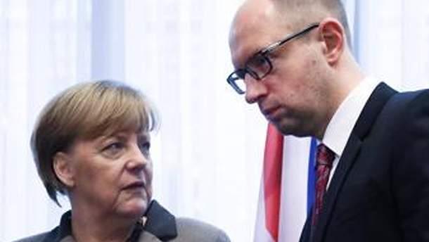 Ангела Меркель та Арсеній Яценюк