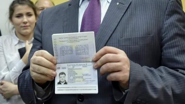Паспорт Петра Порошенка