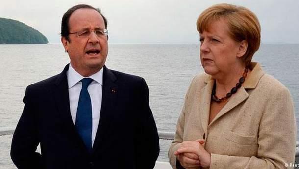 """Меркель и Олланд везут Путину свой """"мирный план"""", — СМИ"""