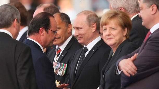 Олланд, Путин, Меркель и Порошенко