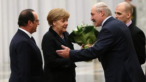 А. Меркель в Минске