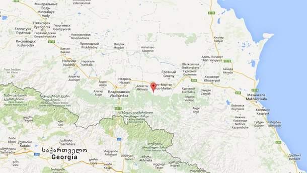 Место инцидента на карте