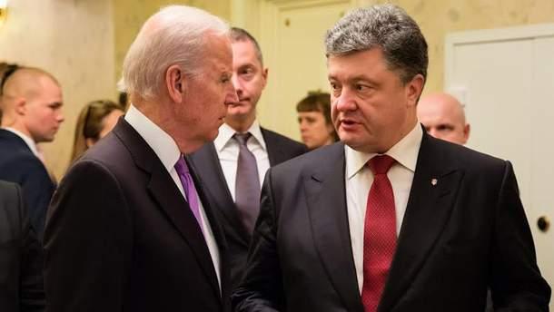 Дж. Байден і П. Порошенко