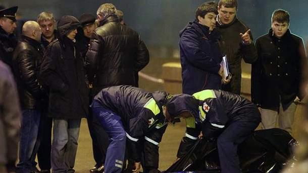 На месте убийства Немцова