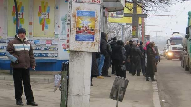 Остановка общественного транспорта в Николаеве