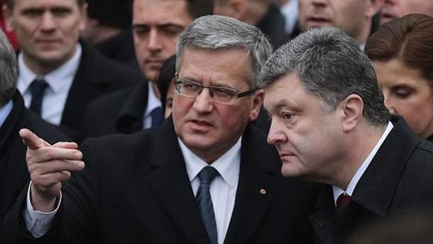 Бронислав Коморовский и Петр Порошенко