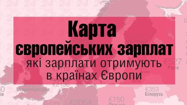 Карта європейських зарплат