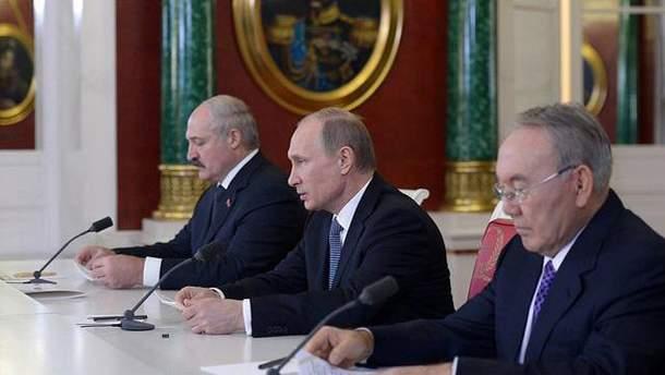 Путин, Назарбаев и Лукашенко