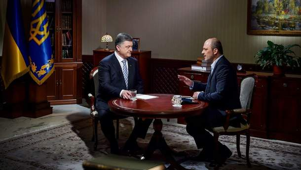 П. Порошенко дає інтерв'ю