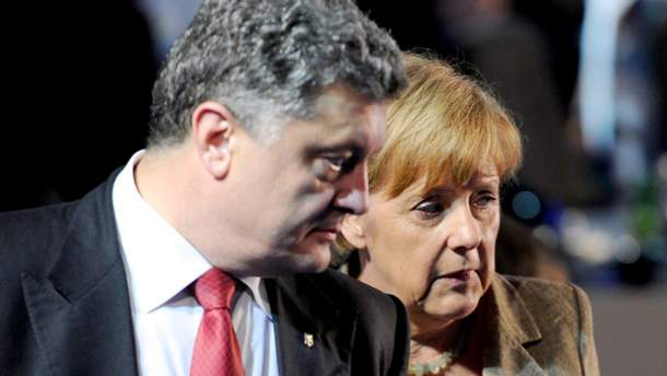 П. Порошенко і А. Меркель