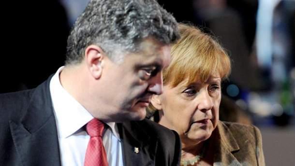 П. Порошенко и А. Меркель