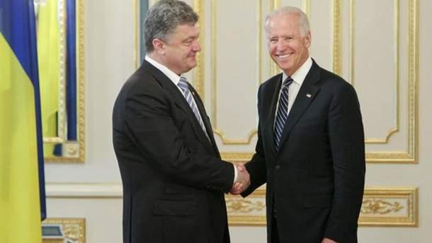 Петр Порошенко и Джозеф Байден