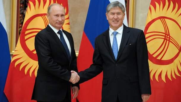 В. Путин и А. Атамбаев