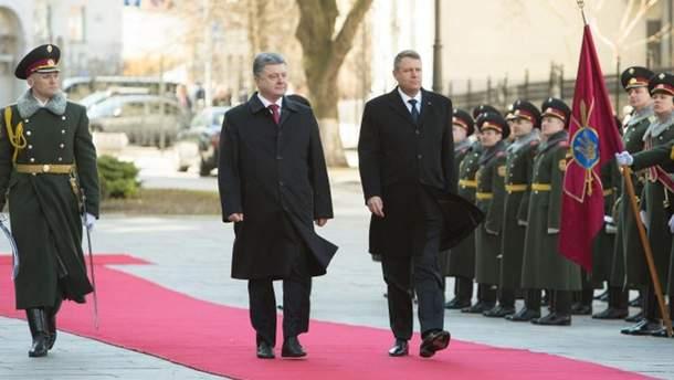 Петр Порошенко и Клаус Вернер Йоханнис