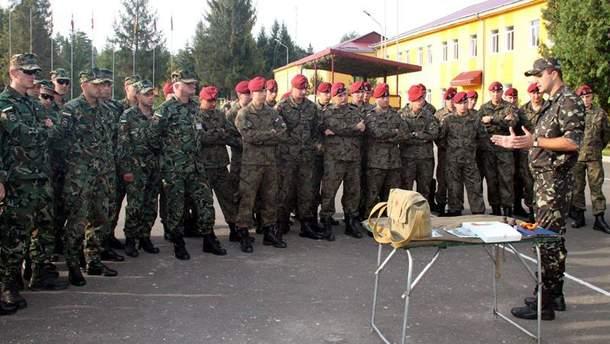 Иностранные военные на Яворовском полигоне