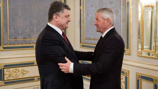 Петр Порошенко и Турбьерн Ягланд