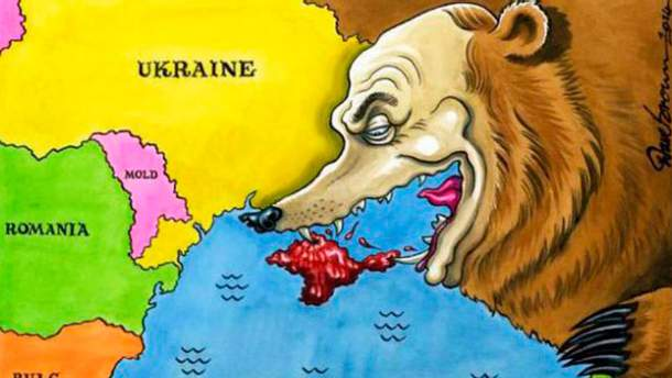 Карикатура об аннексии Крыма