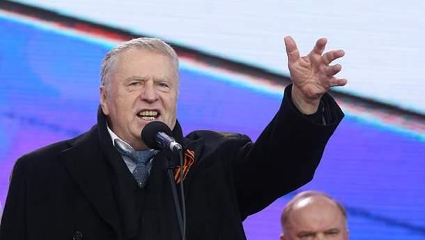 Володимир Жиріновський під час святкування анексії Криму