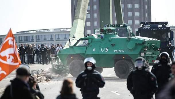 Протесты во Франкфурте